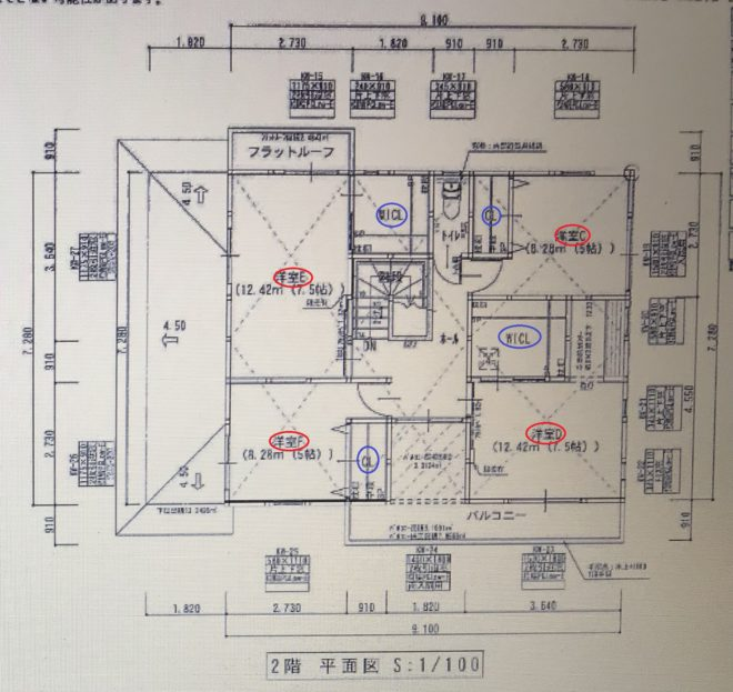 タマホーム2階間取り図